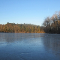icy lake sub-zero temperature