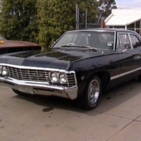 black 1967 chevy impala